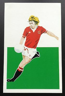 Brian Greenhoff Manchester United Sigma Sports Silhouettes Action Portraits Card