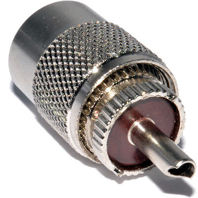 Pack 2, PL259 Male UHF Plug To Fit RG59  Cable Solder on