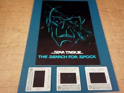 3 Framed Film Cells From Star Trek Iii Mounted On Card