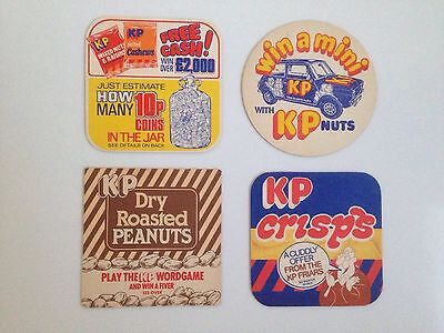 Beer Mats - 4 Vintage KP Double Sided.