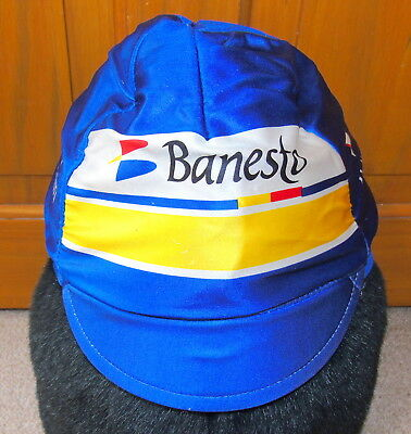 Excellent Condition Vintage Banesto Winter Lined Cycling Cap Made By Nalini