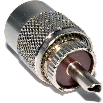 Pack 5, PL259 Male UHF Plug To Fit RG58  Cable Solder on