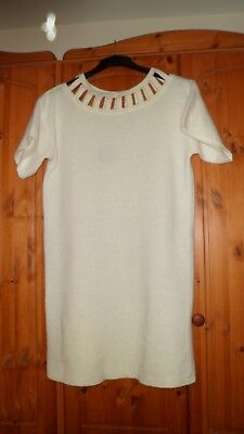 Dress Jumper Wool Mix In White By Jump.Women's Size 14 / 16.New With Tags.
