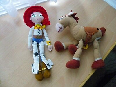Disney Small Soft Jessie & Beanie Bullseye from Toy Story - VGC