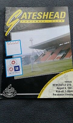 gateshead v newcastle 6 aug 1991 friendly