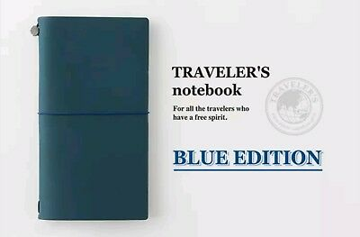 Travelers Notebook Blue Edition Leather Cover Authentic Midori 2015 Edition
