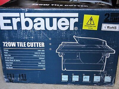 Erbauer Tile Saw. Diamond bladed electric tile cutter.