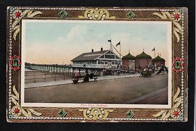 L@@K   The Pier Redcar 1914 Postcard