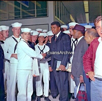 1960s Muhammad Ali w US Navy Sailors Original 2.25 Negative #4
