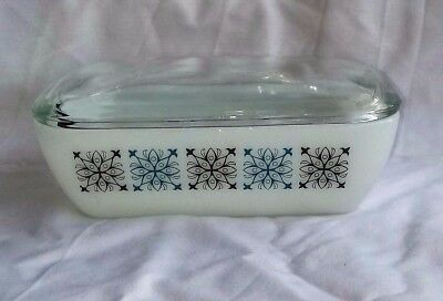 Vintage Retro Pyrex J A J Butter Dish Chelsea Pattern With Lid