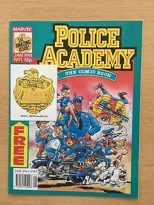 POLICE ACADEMY #1   MARVEL COMICS  01/1979   With Rare Free Gift!