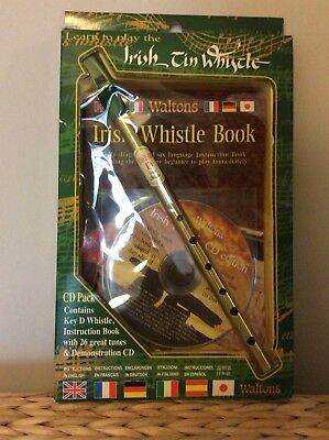 Irish Tin Whistle pack Learn to Play CD, instruction book New