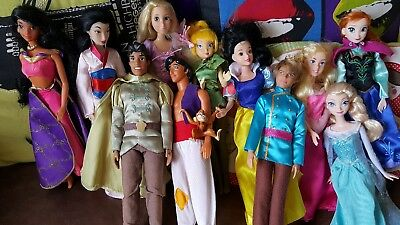 "DISNEY 12"" DOLLS BUNDLE princess and princes"