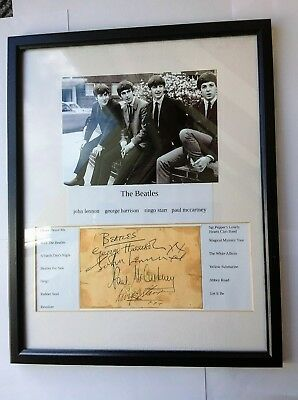 Beatles 1960,s original signed Autographs,with Authentication from Track's.