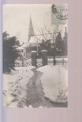 Old Postcard Australia NSW Bathurst Church in the Snow
