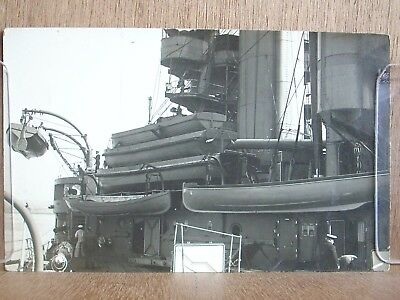 postcard warship's lifeboats date unknown photo j. c lawrence and sons gosport.