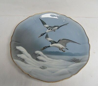 "FRIEDRICH KAESTNER, VINTAGE PLATES, COUNTRY ANIMALS, ""PAIR of GEESE"", VGC"