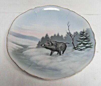 "Friedrich Kaestner, Vintage Plates, Country Animals, ""wild Boar"", Vgc"