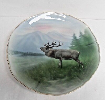 "Friedrich Kaestner, Vintage Plates, Country Animals, "" Stag"", Vgc"