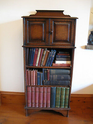 Antique Smokers Cabinet Bookcase Victorian Edwardian with Tobacciana and Books