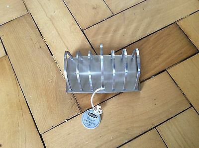Vintage Old Hall Connaught toast rack 6 slice stainless steel. New old stock.