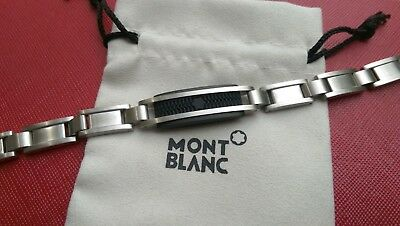 "Montblanc Creative Collection 8"" Stainless Steel & Rubber Inlay Bracelet"