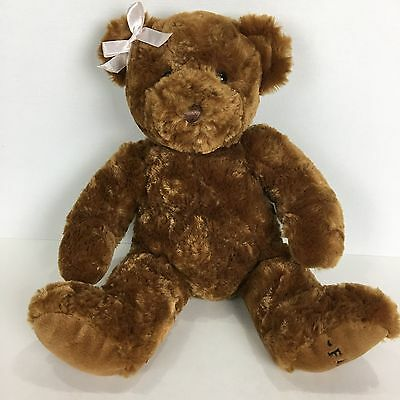 "FAO Schwartz Brown Teddy Bear 14"" Plush Stuffed Animal Soft Toy"