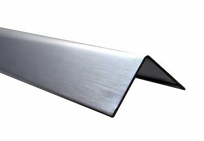 Brushed Chrome Perimeter Angle ( Aluminium ) Wall Angle L Shape, 3 Meter Long
