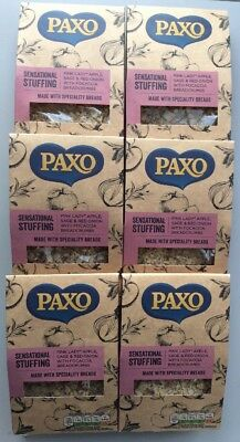 6x Paxo Pink Lady Sage & Red Onion with Focaccia 110g Stuffing Vegetarian Halal
