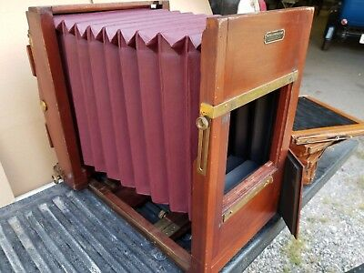 FOLMER & SCHWING 8X10 skyscraper FIELD / View Camera w/ Film Holders & Case