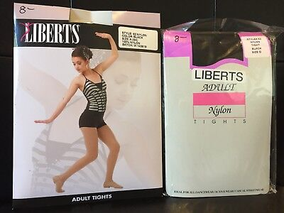 Libert's Adult Footed Tights - NEW - Pink, Black, White, Suntan multiple sizes