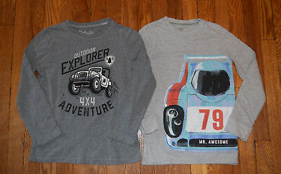 Carter's Jumping Beans Boys Shirts - Lot of 2 - Race car Jeep - Sizes: 7x  8