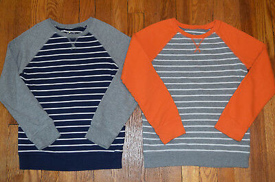 Boys Jumping Beans French Terry Striped Shirts - Lot of 2 - Size: 7x