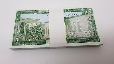 Lebanon Banque Du Liban1986 UNC Bundle of 100 Pieces 5 Livres banknotes Pick 62