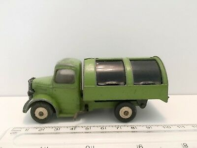 Dinky 1950's - Bedford Tipper Green With Black Shutters - Winder Ok - Rare