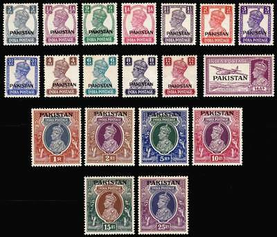 Pakistan Stamps 1947 Year Pack Ovpt Pakistan on British India King George MNH