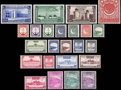 Pakistan Stamps 1948 Complete Year Pack Old Moon Independence Day MNH