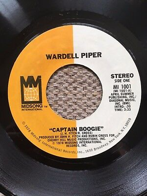 """Wardell Piper """"Captain Boogie"""" 7"""" Midsong (MI1001)"""