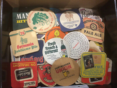 Treasure Trove of Vintage beer mats from 60s, 70s and early 80s - 215 in total
