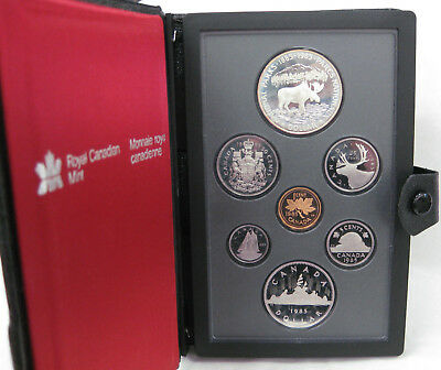 1985 Royal Canadian Double Struck Proof Set Nat'l Park Moose