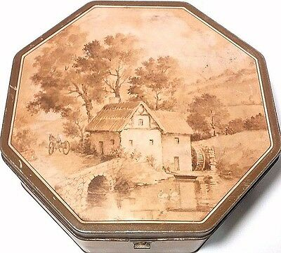 National Biscuit Company Nabisco Decorative Art Tin Hinged Octagon Box