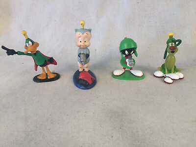 """Looney Tunes Applause Marvin Daffy Porky K-9 3.5"""" Space Themed PVC Figures"""