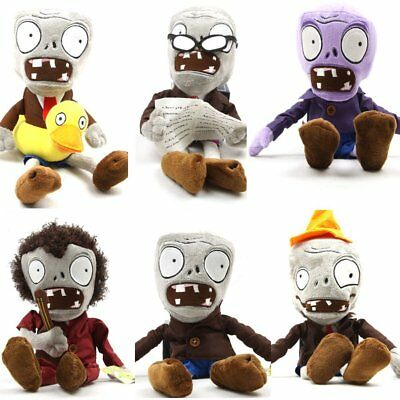 6 Pieces Set Zombie Cute Collectibe Plush Children Stuffed Toy Perfect for Gifts