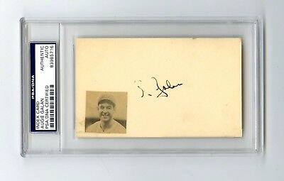 Augie Galan Baseball Index Card PSA/DNA Authentic
