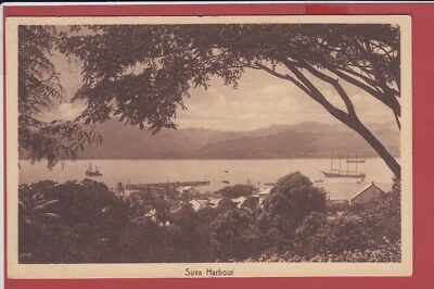Old Postcard Fiji Suva Harbor
