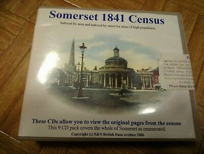 Somerset 1841 Census - S and N British Data Archive Ltd. 9 CD Pack