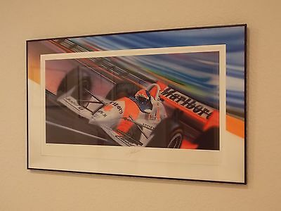 Formula1 & Indycar Champion Emerson Fittipaldi Signed Print by Keith Murray