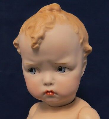 """33Cm (13"""")  """"grumpy"""" Gebr. Heubach Reproduction On A Composition Toddler Body"""