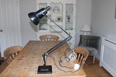 Vintage Original Herbert Terry Anglepoise Table lamp 1227 black