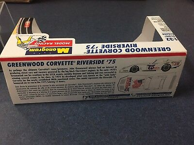 1/32 slot car Monogram #75 Greenwood Riverside 1975 Chevy Corvette Sebring race